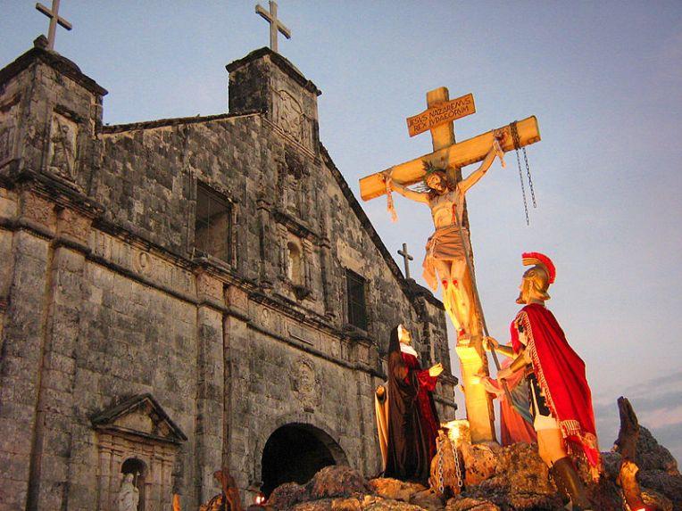 https://commons.wikimedia.org/wiki/File:Ang_Simbahan_ng_Bantayan_on_Holy_Week.jpg