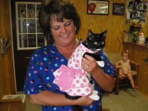 Sherice with the tutu cat