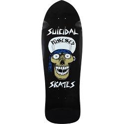 "This Suicidal Skates old school deck is the perfect way to honor the rad skaters who came before you. This professional quality Suicidal Skates Punk Skull Reissue Black Old School Skateboard Deck - 10"" x 30.75"" measures 10"" wide x 30.75"" long and is suitable for every skill level, from beginner to advanced. Suicidal Skates Punk Skull Reissue Black Old School Skateboard Deck - 10"" x 30.75"" is a totally versatile deck that's perfect for cruising, pool, and vert. Snatch this limited edition Suicidal Skates Punk Skull Reissue Black Old School Skateboard Deck - 10"" x 30.75"" while they last! NOTE: grip tape not included and must be ordered separately. Features: One (1) Suicidal Skates Punk Skull Reissue Black Old School Skateboard Deck - 10"" x 30.75"" from Suicidal Skates Deck Size: 10"" width x 30.75"" length Suicidal Skates Punk Skull Reissue Black Old School Skateboard Deck - 10"" x 30.75"" is suitable for every skill level from beginner to pro Predrilled holes for easy skate truck assembly NOTE: Grip tape not included and must be ordered separately"