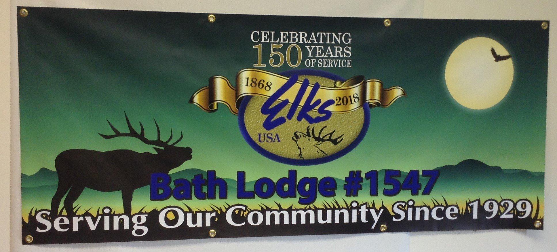 serving community, elks lodge, community, banner