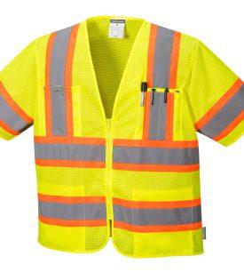 orange yellow stripe reflective vest