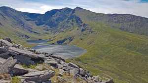 View of Carrauntoohil and Caher during our hike of the Coomloughra Horseshoe.  Hiker's Tour of Ireland with Eastern Outdoor Experiences