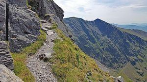 Part of the path along the Beenkeragh Ridge between Beenkeragh and Carrauntoohil.