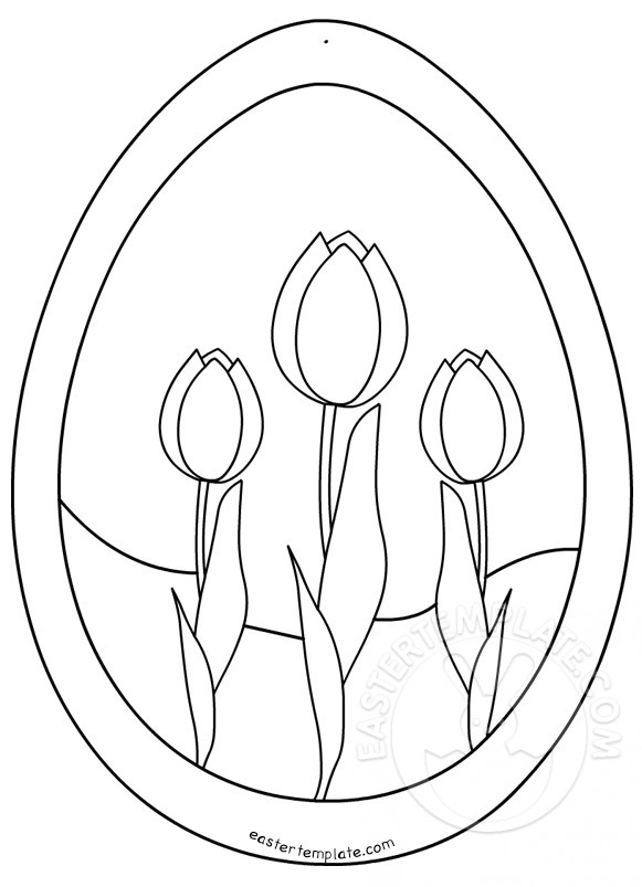 Easter Egg Tulip Pattern Easter Template