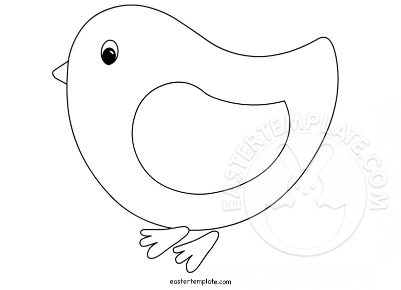baby chick coloring page easter template