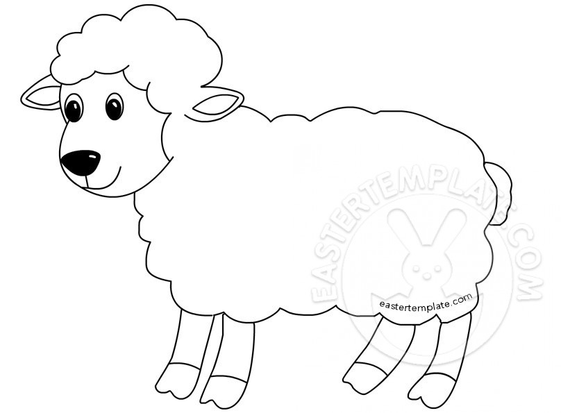 Lamb Templates. lamb face template sheep printables sheep templates ...