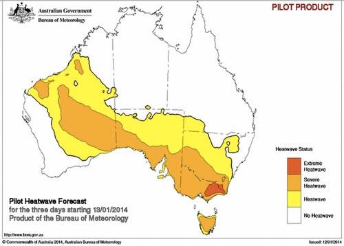 heatwave forecast map