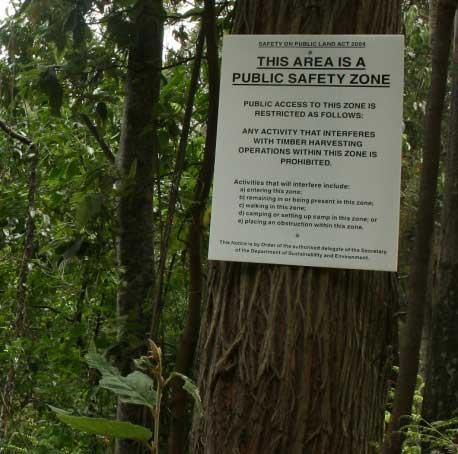 Public Safety Zone signage