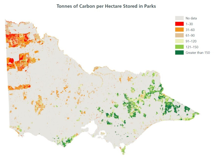 Carbon tonnes per ha in Parks