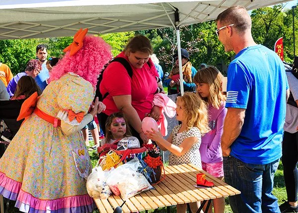 Tots the Clown entertains at the Children's Festival