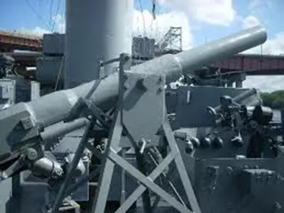 artillery on USS Slater