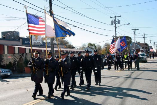 The East Greenwich Police color guard.