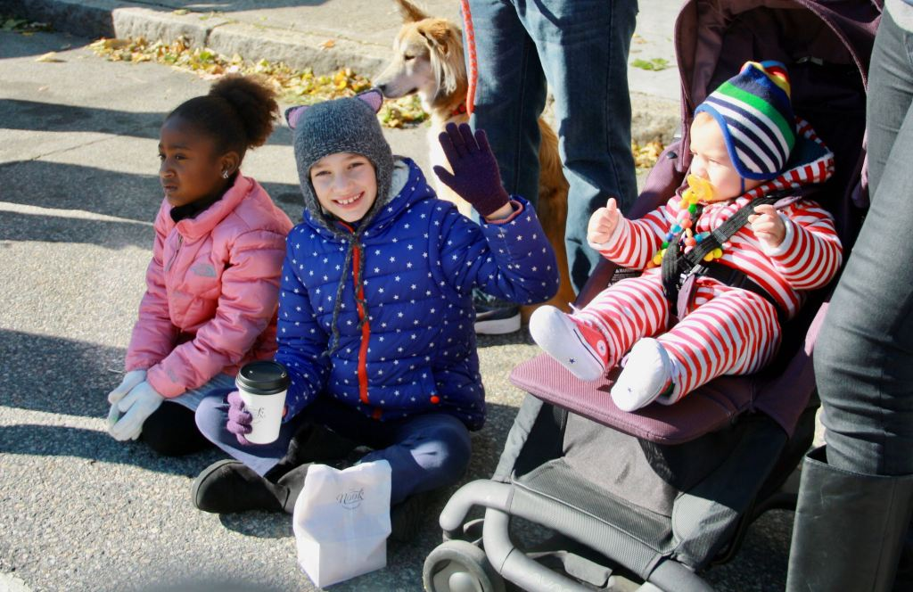 Some young Veterans Day Parade spectators.