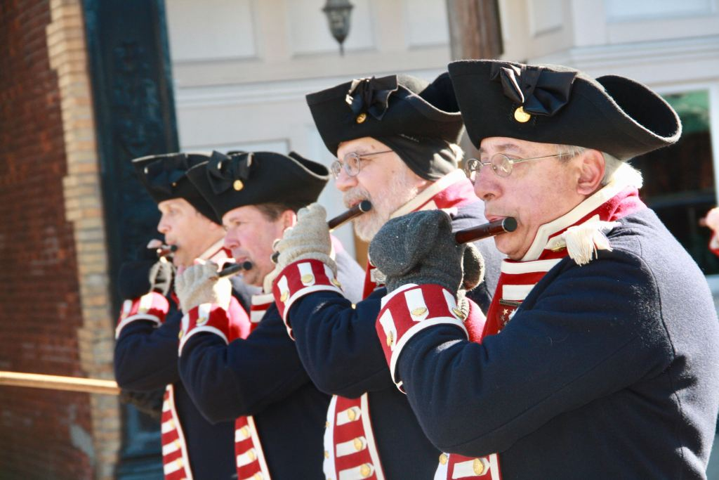 Members of the Kentish Guard's Fife and Drum Corps.