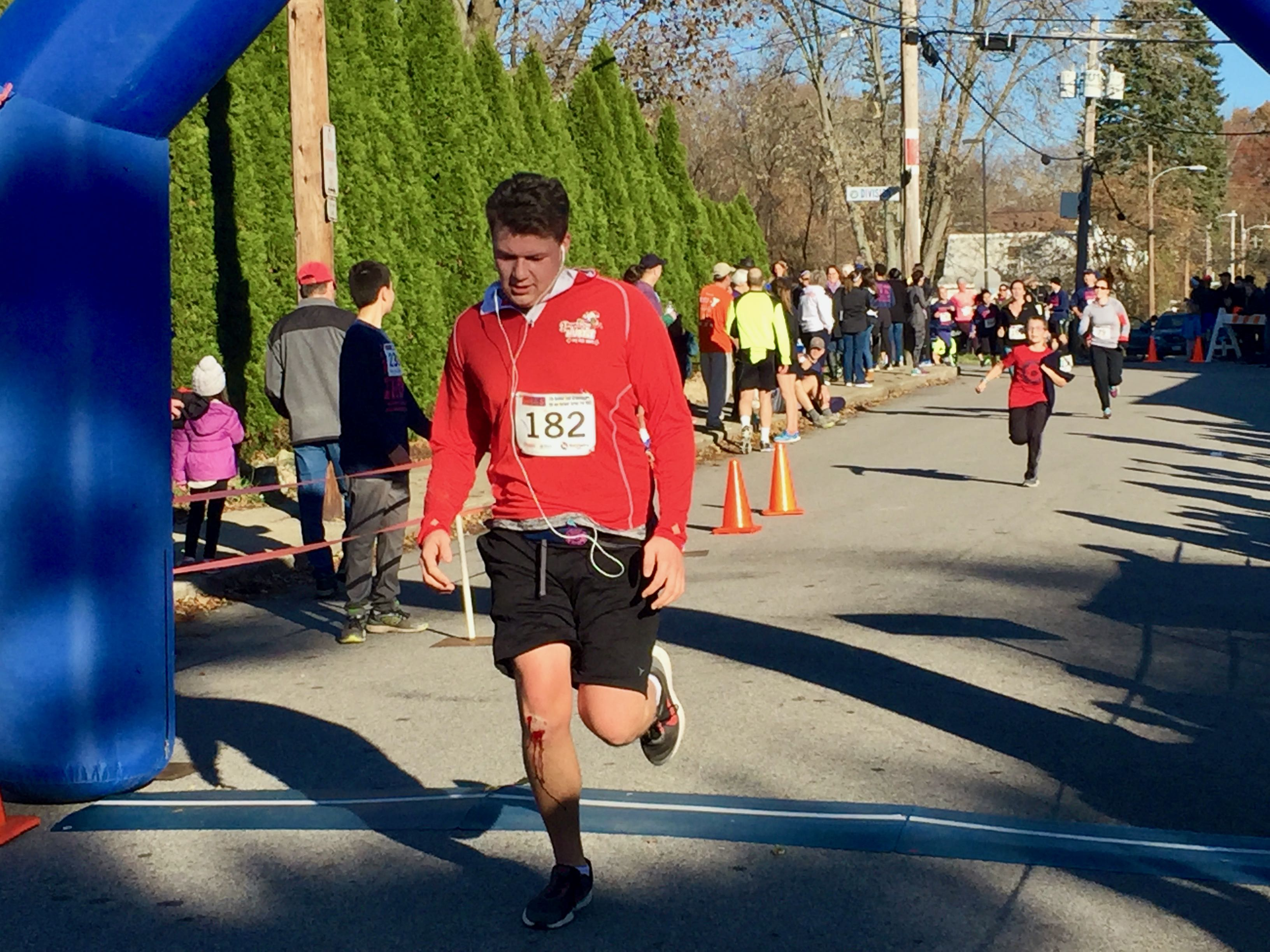 Turkey Trot finisher Axel Lindquist, 17, of East Greenwich