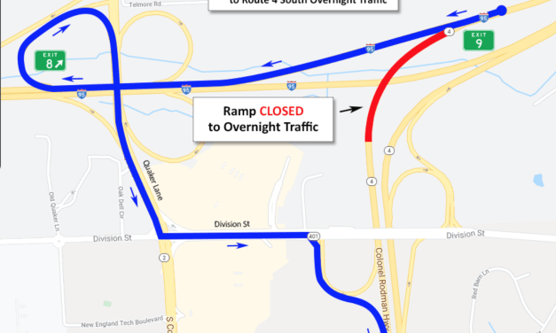 Lane Closures Rt. 95 & Rt. 4 Start Saturday