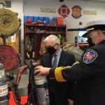 Sen. Reed Visits EG's Station 1 to Celebrate FEMA Grant