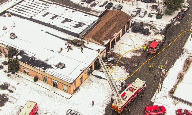 Roof Fire Damages Automotive Shop, Dance Studio
