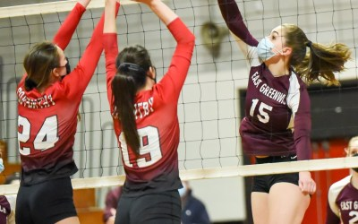 Girls Volleyball: Coventry Over EG in 3 Close Sets