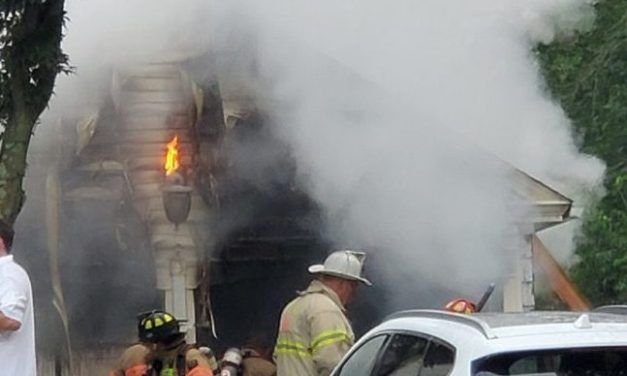Post Road Fire Engulfs Garage, Damages House