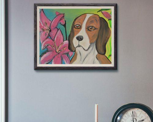 Alyvia's Beagle Painting