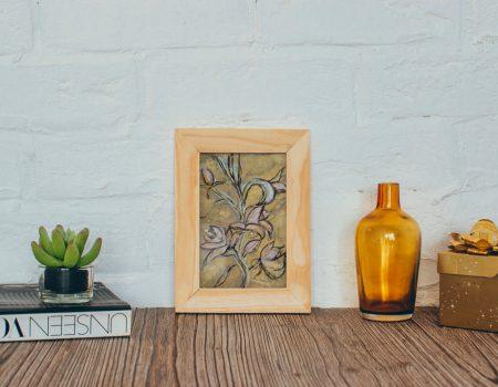 Gold metallic flowers by Cassondra Eastham