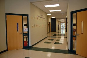 Sheridan School District's East End Intermediate School Addition Hallway