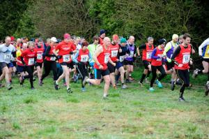 A sea of Red at the Brantingham Hill Race