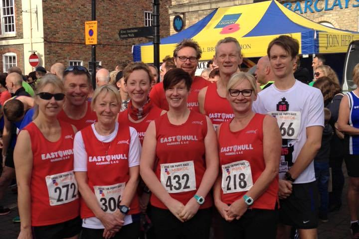 Harriers at the Brigg Poppy 10k