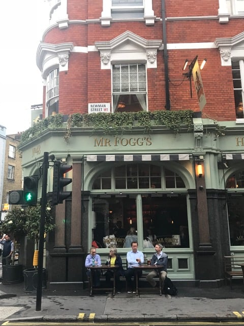 bar in fitzrovia