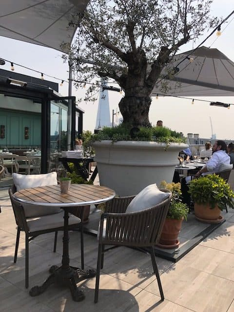 rooftop restaurant in the city