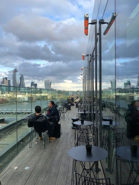 Rooftop bar on South Bank
