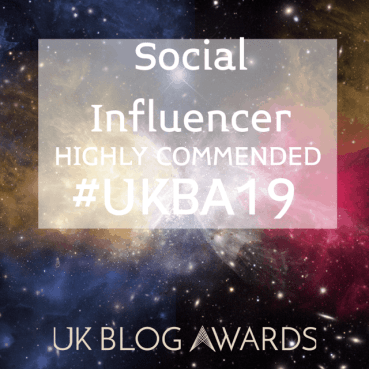 Social Influencer - Highly Recommended - UK Blog Awards