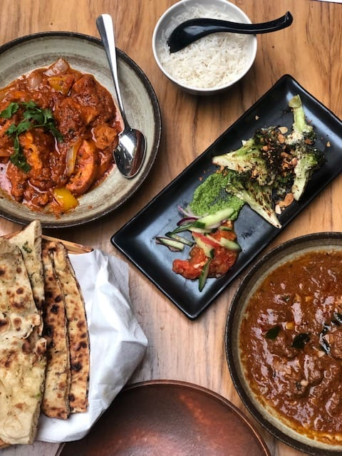 modern indian restaurant in the city
