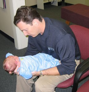 My older son getting his first adjustment from his uncle, Dr. Peter Cox of Dynamic Health Center in Charlotte, NC