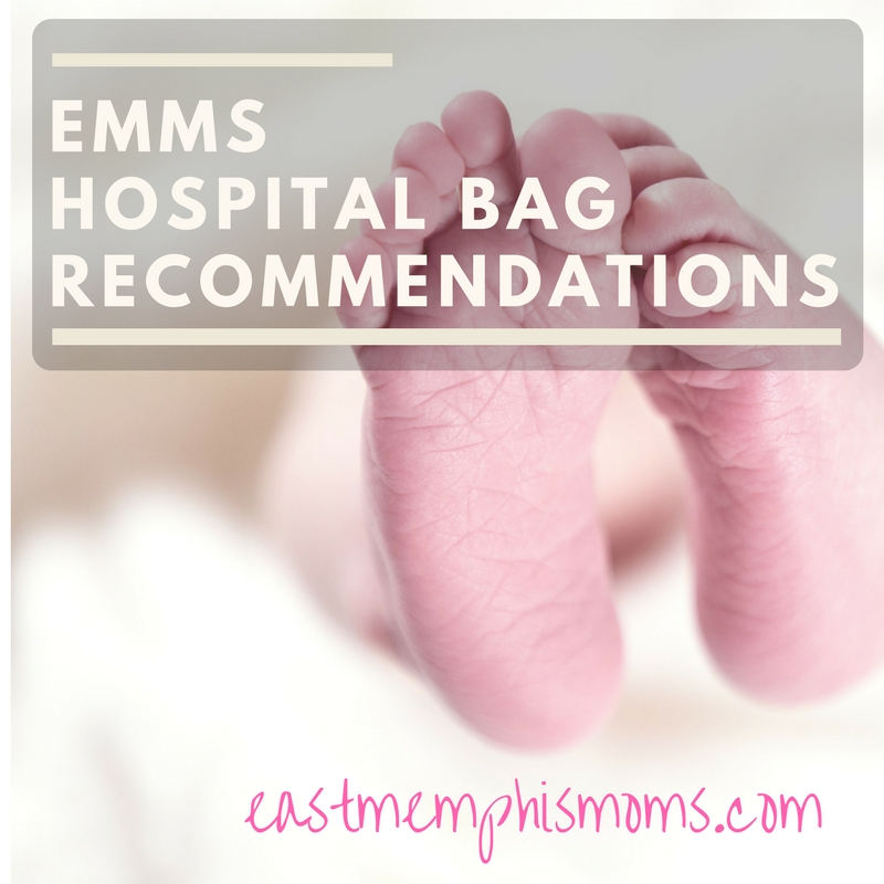 East Memphis Moms Hospital Bag Recommendations - here's what to take with you when it's time to deliver!