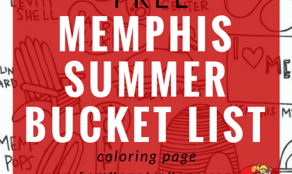 Free Memphis Summer Bucket List Coloring Page