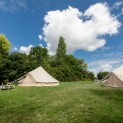 Bell Tents in the Secret Garden
