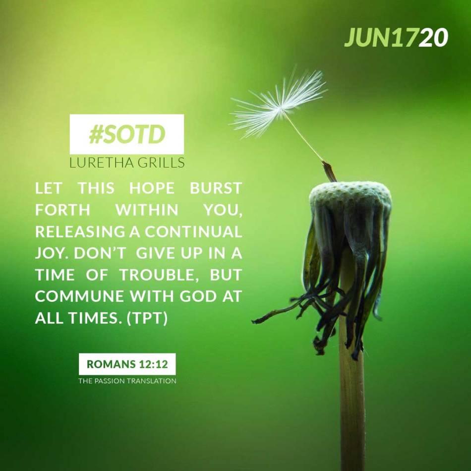 Romans 12:12 TPT