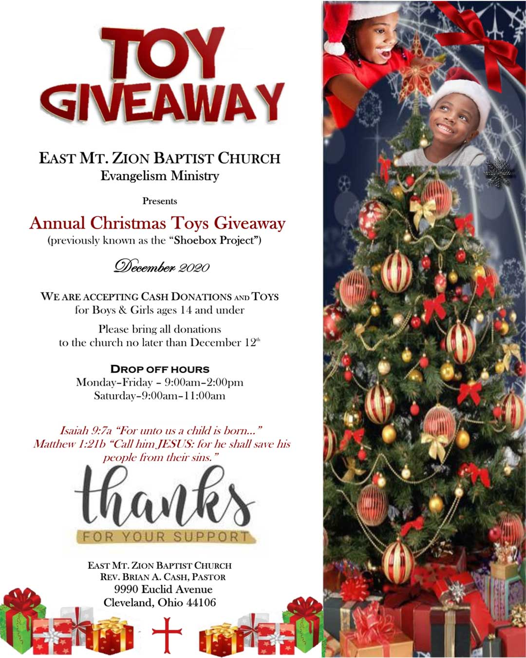 Christmas Toy Giveaway 2020 Annual TOY GIVEAWAY   EMZ Evangelism Ministry   East Mount Zion