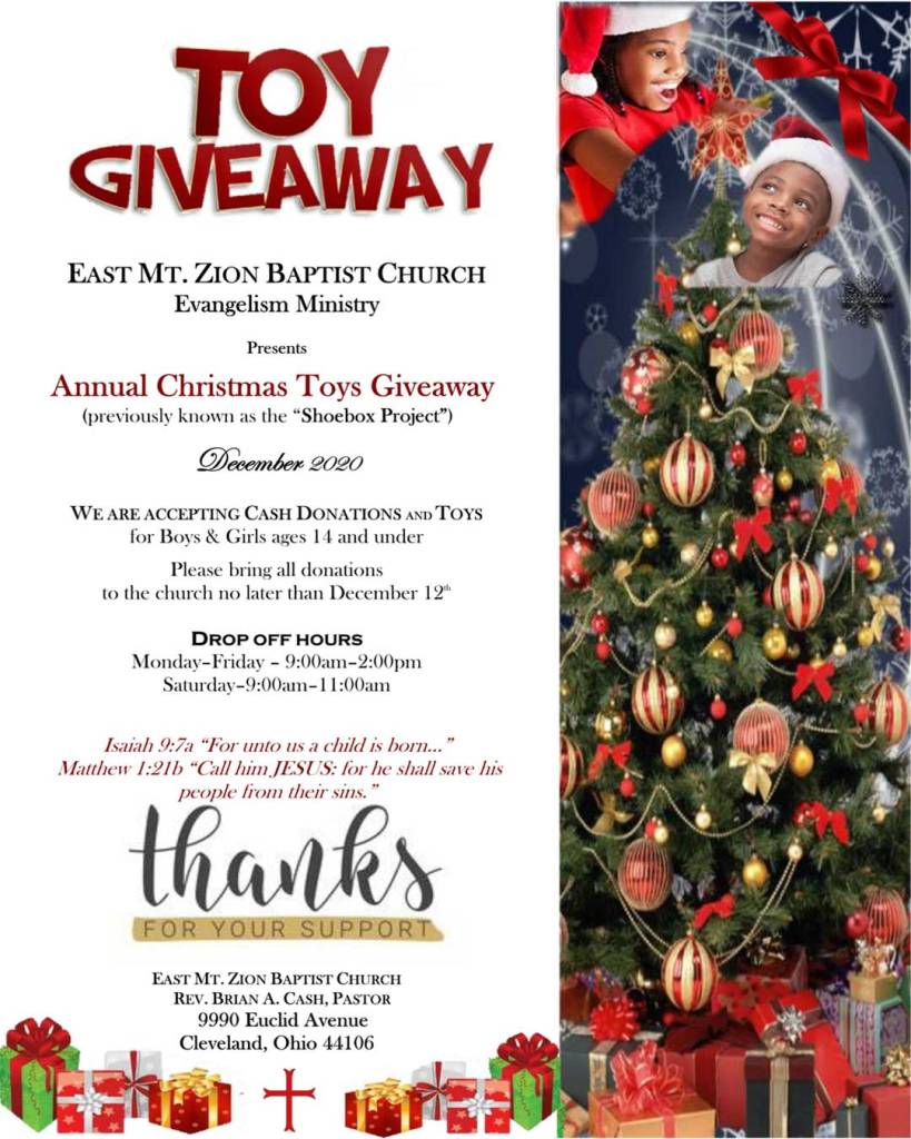 Christmas toy giveaway 2020