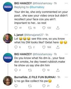 Burna Boy Responds After BIA Claimed She Doesn't Know What He Looks Like