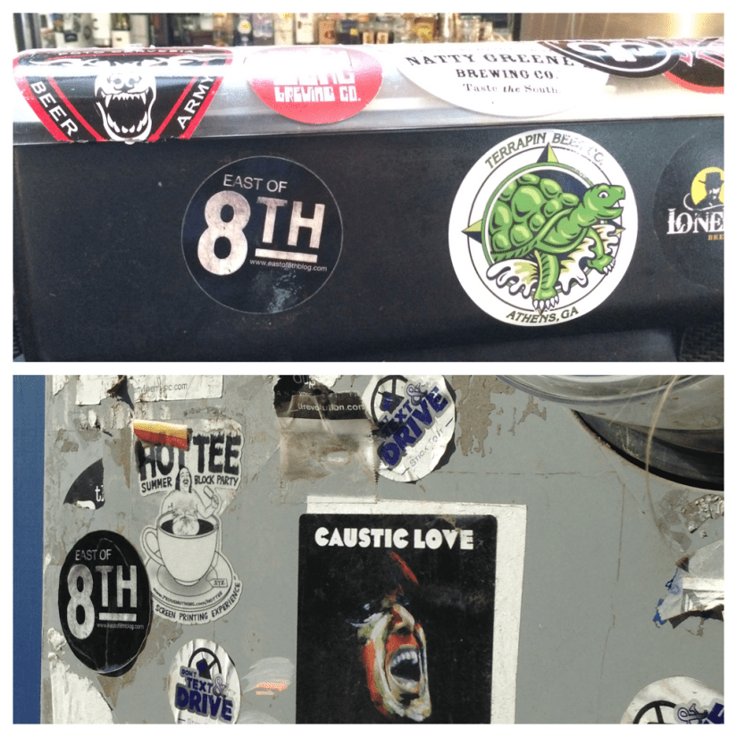 Found these at the Revolution Ale House and outside The Evening Muse in Charlotte, NC