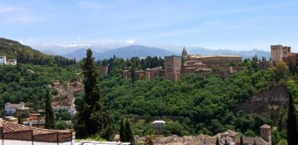 Alhambra Palace from San Nicolas square, Granada