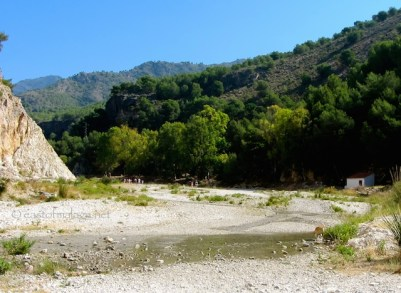 Start of the river walk along the Rio Chillar, Nerja