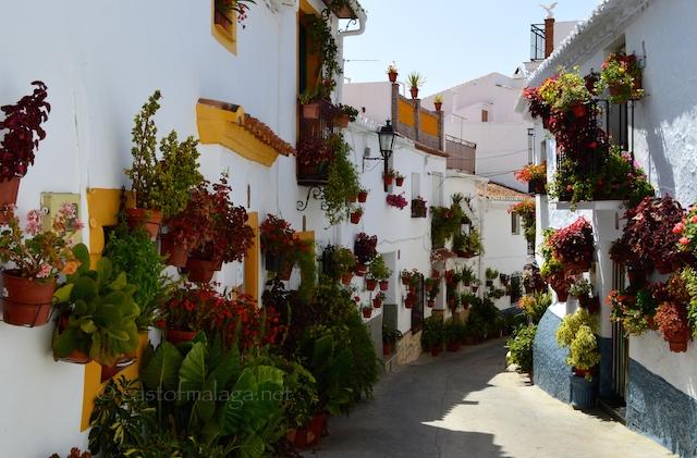 Flowerpots in Canillas de Aceituno