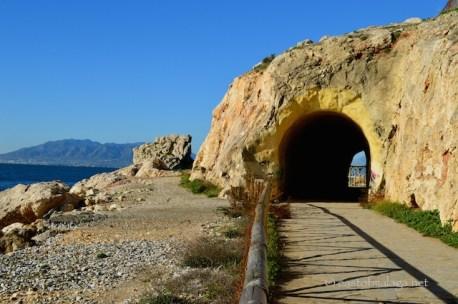 Old railway tunnel at La Arana
