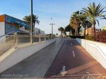 Promenade has easy access from disabled parking area, Torre del Mar, Spain