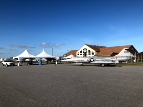 The ACE Tent was the educational focal point of Easton Airport Day 2019