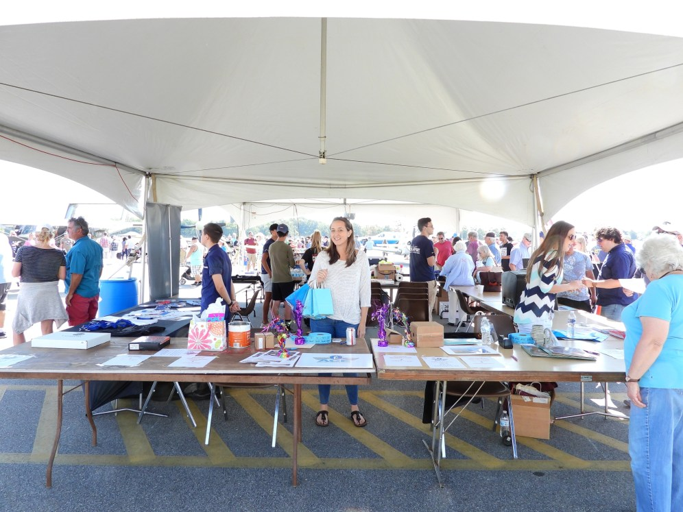 The ACE Tent was the educational focal point of Easton Airport Day